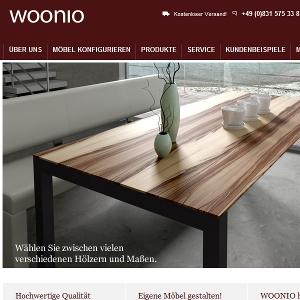 Partnerlink von Woonio.de - Tische online konfigurieren