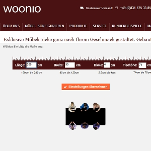 Parnterlink von - Woonio.de Tische online konfigurieren