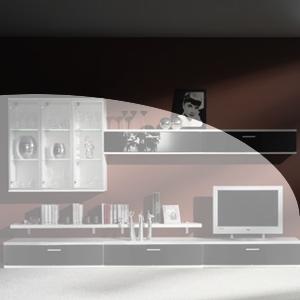 Wohnwand Planung modern3
