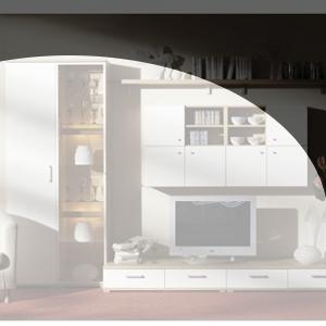 Wohnwand Planung modern4