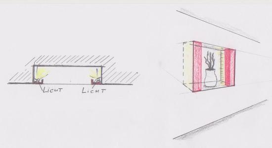 nischen und vorsatzschalen beim einrichten nutzen. Black Bedroom Furniture Sets. Home Design Ideas