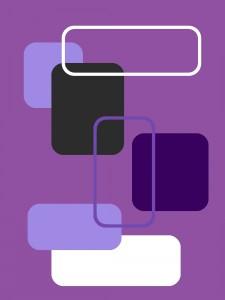 Gerundete Rechtecke - Teppich violett