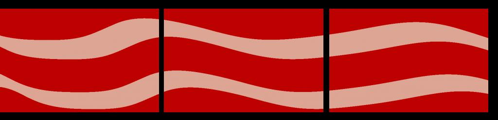 Teppiche Reihe - rot geschwungen