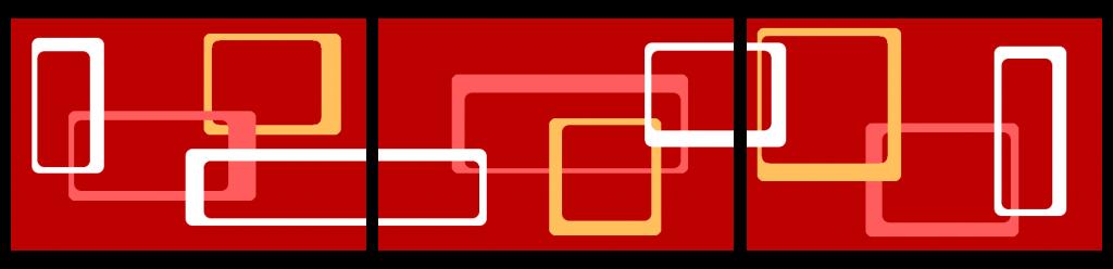 Teppichereihe - rot runde Rechtecke