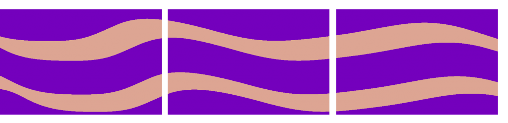 Teppiche Reihe - violett geschwungen