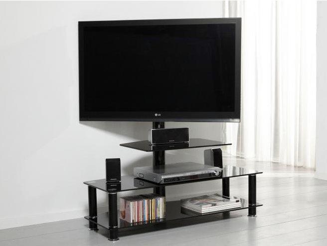 TV-Moebel schwarz Lack,Glas