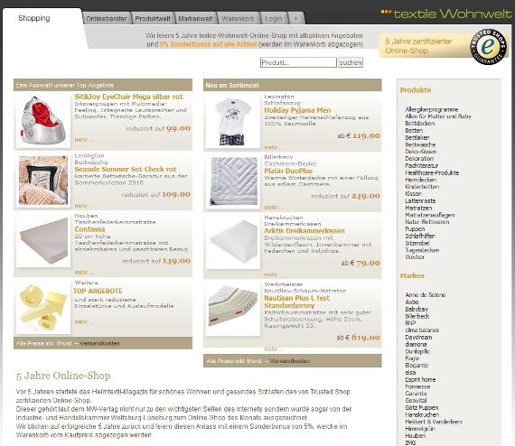 *textile-Wohnwelt neues Design